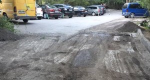 В Ялте начали ремонт дорожного покрытия улицы Крупской