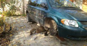 В Феодосии мужчину придавил автомобиль. «КРЫМ-СПАС» подоспел вовремя