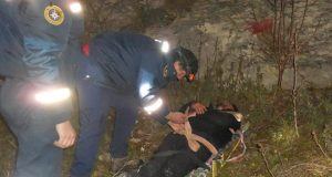 Под Бахчисараем ночью со скалы сорвался человек