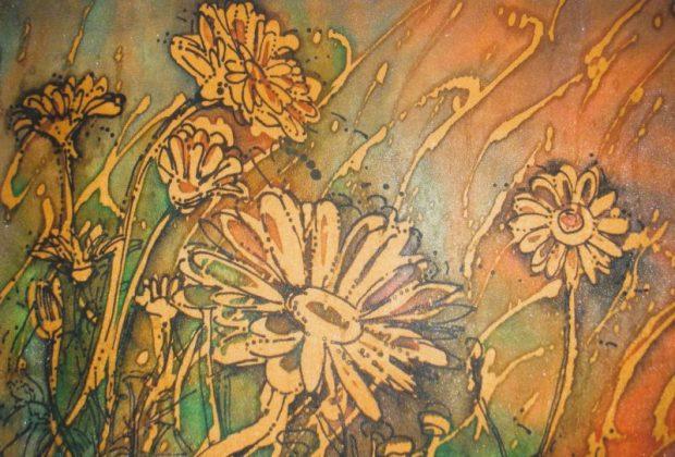 В Никитском ботаническом саду - выставка батика Любавы Тарадай