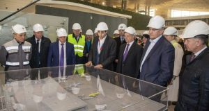 На стройплощадке нового терминала аэропорта «Симферополь» состоялась церемония закрытия контура здания