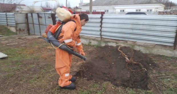 В Кировском районе Крыма нашли баллон со взрывоопасным веществом