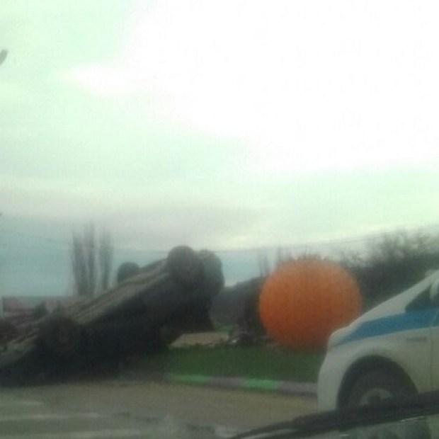 ДТП с «перевертышем» на трассе «Симферополь – Севастополь»