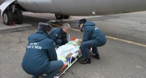 Тяжелобольные пациенты отправились из Крыма в Санкт-Петербург на спецборте МЧС