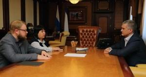 Сергей Аксёнов встретился с главой администрации Бахчисарайского района Светланой Львовой