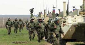 На крымских полигонах - морская пехота Черноморского флота