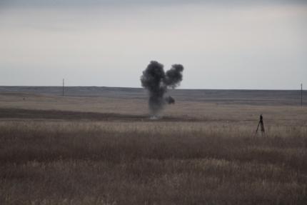За один раз - в Ленинском районе Крыма уничтожили 16 авиабомб