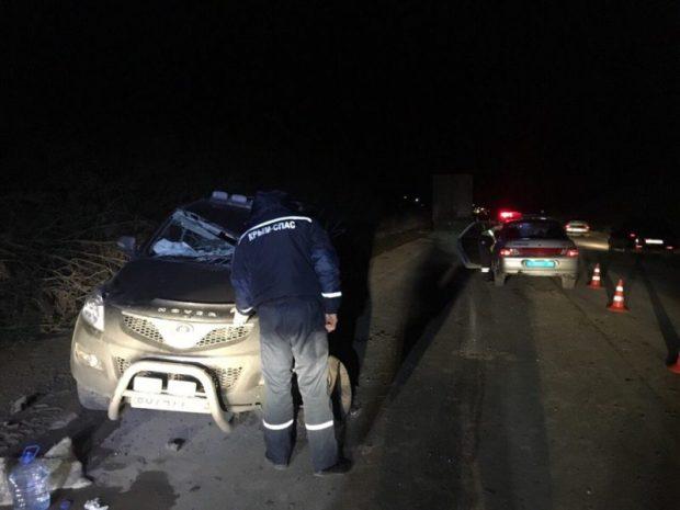 Ночные ДТП на дорогах Крыма. Работали спасатели