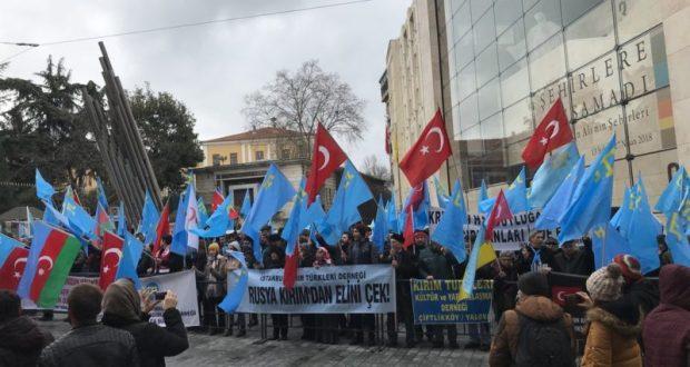 Акция протеста в Стамбуле: крымские татары бастуют против воссоединения Крыма с Россией