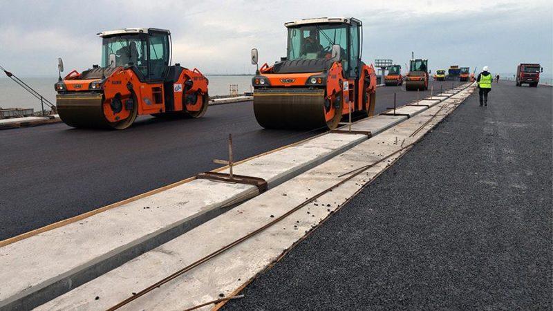 Автоподход к Крымскому мосту готов на 77%