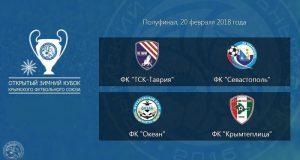 Определились финалисты Открытого зимнего Кубка Крымского футбольного союза-2018