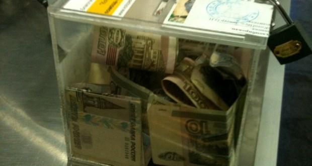 В Белогорске парень украл коробку с пожертвованиями