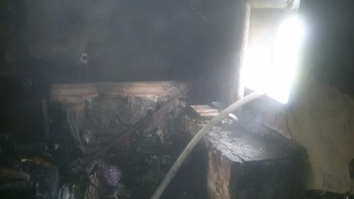 Под Феодосией, при пожаре в жилом доме, едва не рванули два газовых баллона