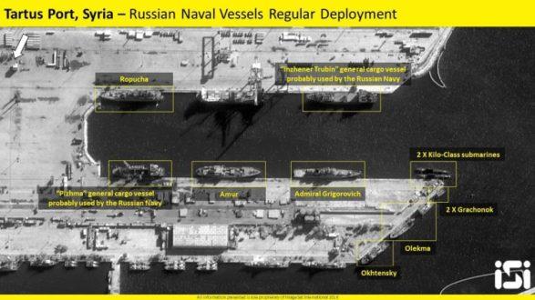 Согласно данным со спутников, все российские корабли покинули Тартус и вышли в море.