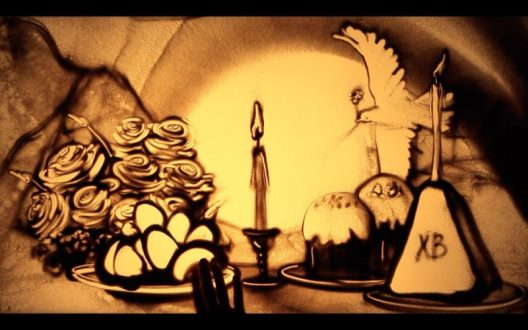 «Пасха Красная» - премьера песочной анимации от крымской художницы Ксении Симоновой