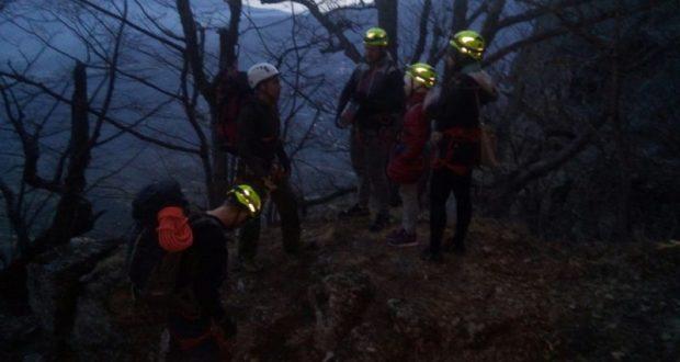 С горы Южная Демерджи «сняли» семью туристов