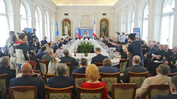 Сергей Аксёнов принял участие в заседании Морской коллегии при Правительстве РФ