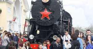 «Поезд Победы» встретили в Ленинском районе и городе воинской славы Феодосии