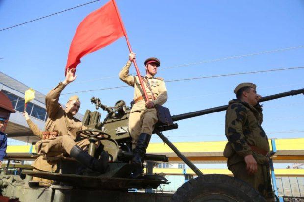 В Симферополе встретили «Поезд Победы»