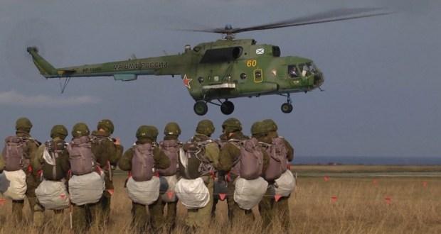 Сборы по воздушно-десантной подготовке морской пехоты Черноморского флота