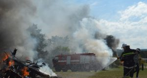 Крымские спасатели ликвидировали условный лесной пожар в Симферопольском районе