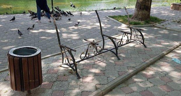В симферопольском парке имени Гагарина рассказали, что произошло со скамейками