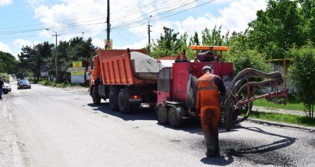 В Симферополе, в районе Евпаторийского шоссе, уложат асфальт
