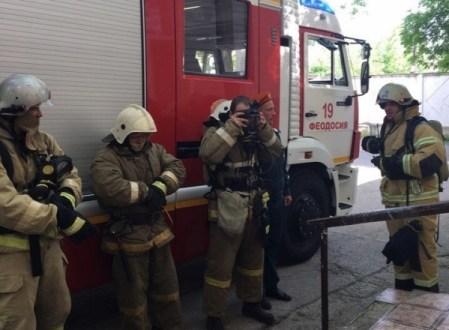 В городской больнице Феодосии прошли пожарно-тактические учения