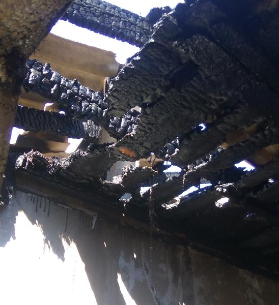 Пожар в селе Новоандреевка Симферопольского района. Сгорел дом