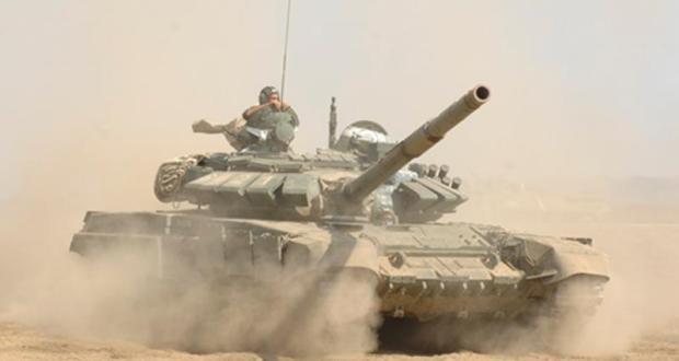 Учения танкистов Черноморского флота проходят на полигоне под Симферополем