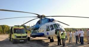 Девочку и её маму, пострадавших во время пожара в Евпатории, доставили вертолетом в Симферополь