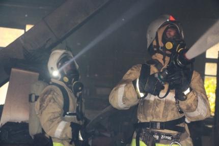 Пожар в Джанкое: мужчина с ожогами доставлен в больницу