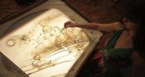 Жизнь и подвиги Димитрия Донского крымская художница нарисовала песком