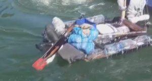 «Мой маленький плот…». Любитель экстрима пытался проплыть в Крым на самодельном плоту