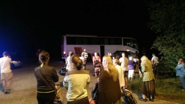 ДТП на трассе Симферополь-Армянск: рейсовый автобус столкнулся с легковым авто