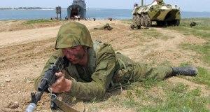 Учения морской пехоты Черноморского флота