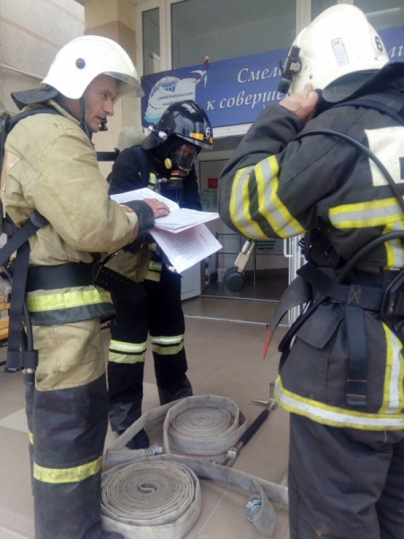 В Симферополе тушили «пожар» в Академической гимназии