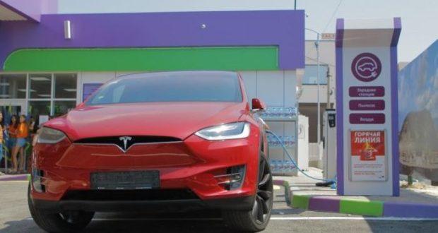 В Севастополе открыли первую в Крыму станцию для зарядки электромобилей
