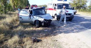В Крыму автомобиль «Daewoo Nexia» врезался в деревья. Серьезно пострадал водитель