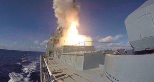 Фрегат ЧФ «Адмирал Григорович» впервые выполнил стрельбу ракетами «Калибр» в Черном море