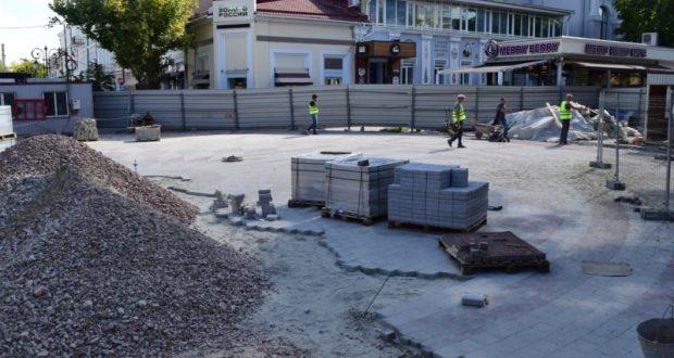 Реконструкцию улицы Пушкина в Симферополе ведут с опережением графика