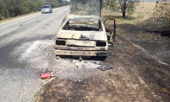 В Крыму на ходу загорелся автомобиль «Volvo»