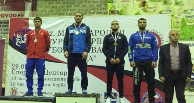 Адам Курак из Симферополя - второй на международном турнире по греко-римской борьбе