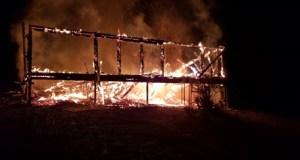 Ночью в Симферопольском районе дотла сгорел дом