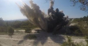 В Севастополе подорвали пять авиационных бомб