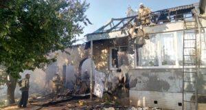 Пожар в Симферопольском районе. И снова газовые баллоны, которые могли взорваться
