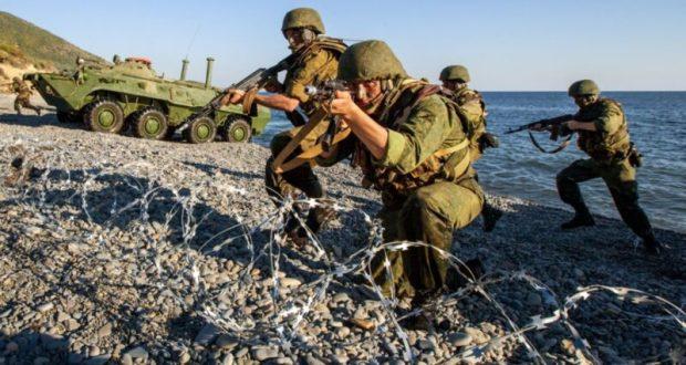 В Крыму, на полигоне Опук прошли бригадные тактические учения морской пехоты