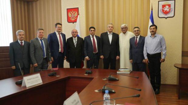 Глава Республики Крым Сергей Аксёнов провёл встречу с делегацией из Пакистана