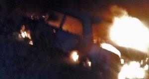Вечерний автопожар в Бахчисарайском районе
