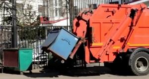 Как убирают мусор в Симферополе